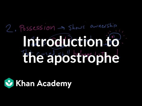 Xxx Mp4 Introduction To The Apostrophe The Apostrophe Punctuation Khan Academy 3gp Sex