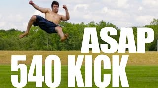 How to 540 Kick In Only 5 Minutes | Learn Fast