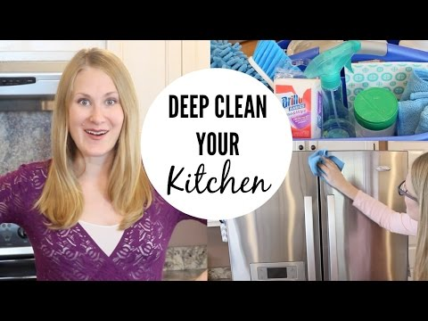 CHEAP CLEANING TIPS | How to deep clean your kitchen!