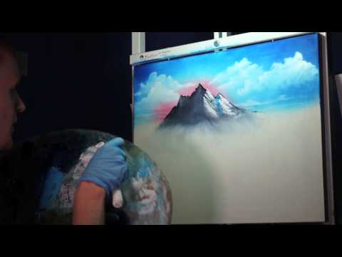 ASMR ♦ Painting Mountains - Dat Crisp Audio Tho' Part 2 | ASMR Palette Knife Paint Scraping