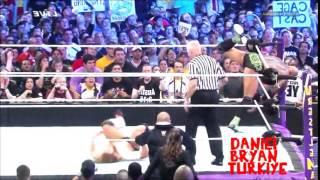 Daniel Bryan Vs  Batista Vs  Randy Orton Highlights Wrestlemania 30