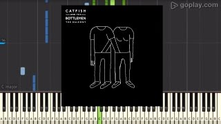Catfish and the Bottlemen Cocoon Piano Tutorial (synthesia)