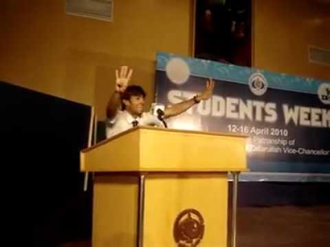 Pakistani College funny speech