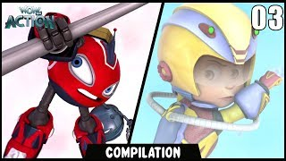 Vir: The Robot Boy & Rollbots | Compilation 03 | Action show for kids | WowKidz Action