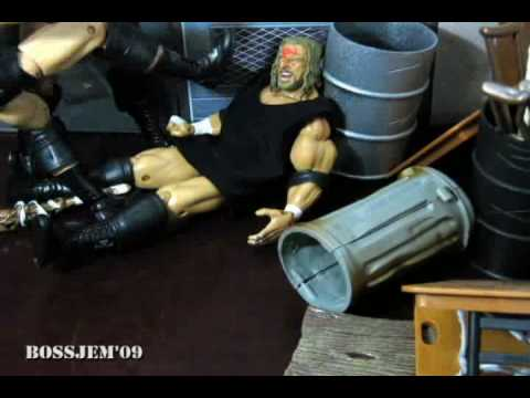WWE toys in Motion WTM Backstage Brawl Triple H vs Randy Orton and Cody Rhodes