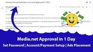 What to Do After Media.net Approval? - Set Password   Account Setup   Payment   Ads and More