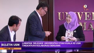 Lawatan Universitas Syiah Kuala ke USM