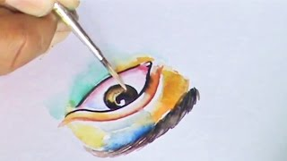 Draw Painting Realistic eye Watercolor