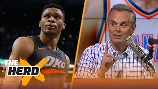 Colin Cowherd reacts after the Thunder blew a 6-point lead in final 18 seconds | THE HERD
