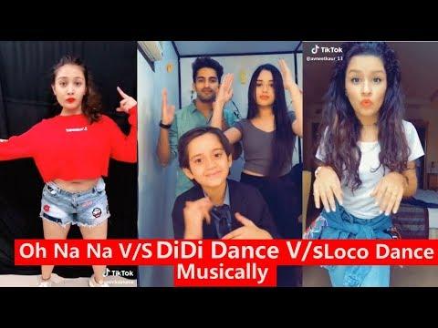 Oh Na Na Dance Vs Didi Dance VS Loco Challenge Musically   Avneet Captain Nick, Aashika, Mrunal