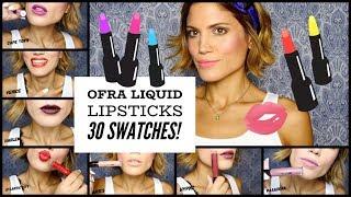 30 Αποχρώσεις Της Ofra [Lip Swatches]