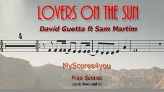 KARAOKE for Players - LOVERS ON THE SUN - David Guetta - Piano, Guitar or Violin! Download