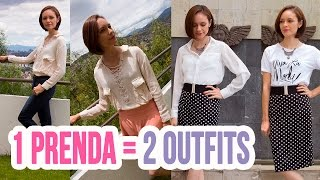 ¡2 Outfits con 1 Prenda! | Moda 2016  Outfits Casuales y Formales | Catwalk ♥