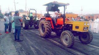Tractor Tochan Video Bilaspur Yamunanagar Haryana HMT 5911 Vs Swaraj 855