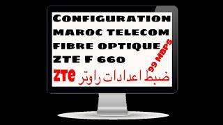 Maroc Telecom fibre optique ZTE F 660 Configuration 99 mbps speedtest