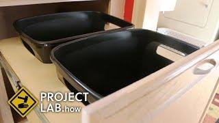 DIY trash can cabinet