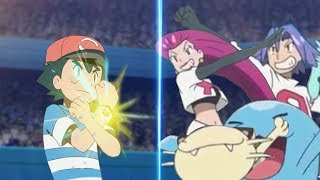 Pokemon Battle USUM: Ash Vs Team Rocket (Pokémon Alola League Face Off!)