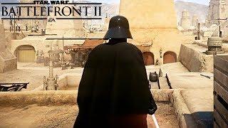 DARTH VADER Vs 1000 Rebels NO HUD Tatooine - Star Wars Battlefront 2