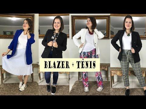 Como usar BLAZER com TÊNIS | 4 looks para inspirar