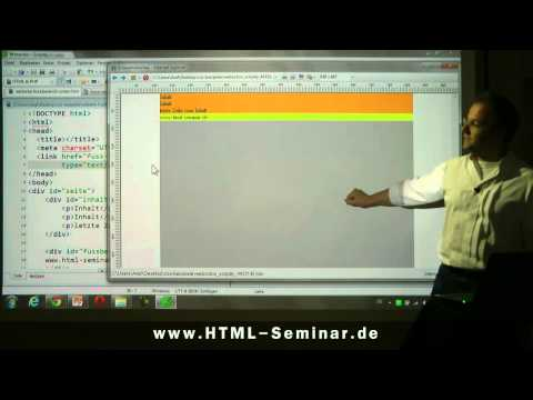 HTML-CSS-Tutorial: Fußzeile am Ende (Sticky Footer) https://www.html-seminar.de