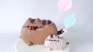 Father's Day Pusheen Cat CAKE - How to make by Olga Zaytseva