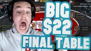 BIG $22 FINAL TABLE! (Oct. 10th Highlight)