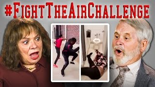 ELDERS REACT TO FIGHT THE AIR CHALLENGE COMPILATION