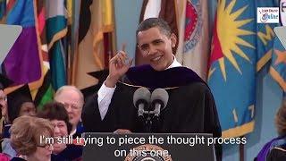 Learn English with President Obama Speech at Michigan University - English Subtitles