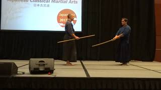 Short Staff vs. Sword Demonstration (Shinto-Muso Ryu Jojutsu)