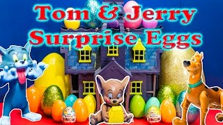 TOM AND JERRY Cartoon Network Surprise Eggs Scooby Doo and Tom and Jerry Candy and Toys Video