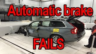 Automatic braking system test fails