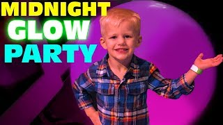 Midnight Glow-in-the-dark Party!!  GLOWING SHIRTS!!