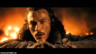 The Hobbit 3: Bard kills Smaug (Full Scene)