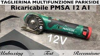 Taglierina multifunzione ricaricabile. lidl Parkside. PMSA 12 a1. batteria 12V. Come al GUS 12V-300