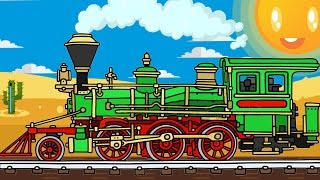 Trains for children - Learn Shapes & Colors - The Learning video - Cartoons about Cars & Trains
