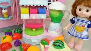 Baby Doli and fruit jelly juice maker toys baby doll play