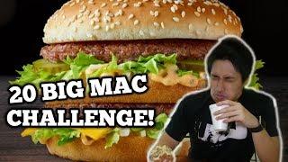 20 BIG MAC CHALLENGE | 10,000 CALORIES IN ONE SITTING
