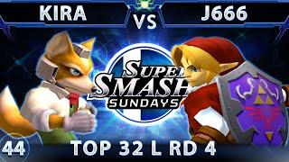 SSS 44 - SSBM-T Kira (Fox) Vs. OXY J666 (Link) SSBM Top 32 Losers Round 4 - Smash Melee