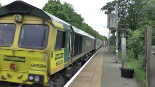 **BEST HORN ON YOUTUBE** 66589 Horns Past Westerfield On 4M87 80+ Horns!!