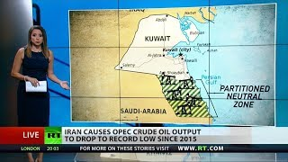 Iran drives OPEC's oil production to record low