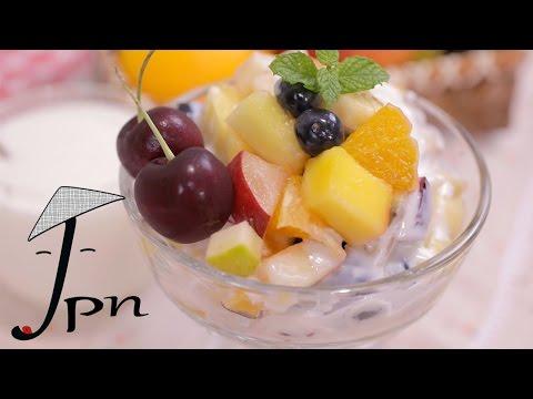 Como fazer salada de frutas com creme de limão
