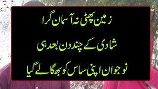 Damad Or Saas Ka Sharamnaak Chakkar Manzar E Aam Per Aa Gya