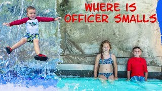 WATER PARK Fun TheEngineeringFamily Assistant and Batboy searched for Officer Smalls