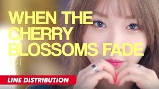 I.O.I - When The Cherry Blossoms Fade (Line Distribution)