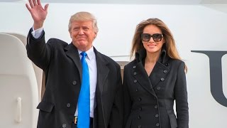 President-Elect Donald Trump & Melania Trump Land At Joint Base Andrews Ahead Of Inauguration