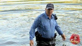 مقلب العجوز وهي ترمي شرطي في البحيره