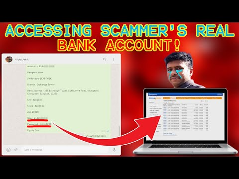 ACCESSING SCAMMER S REAL BANK ACCOUNT