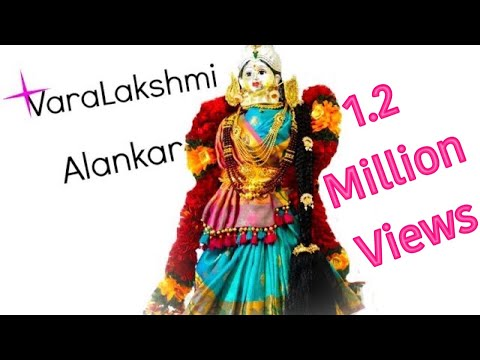 Xxx Mp4 Varamahalakshmi Alankar Saree Draping VaraLakshmi Vratham Idol Preparation 3gp Sex