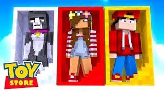 A SECRET REUNION! w/Little Carly (Minecraft Toystore).