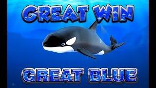 BIG WIN!!!! Great Blue - Casino Games - bonus round (Casino Slots) From Live Stream